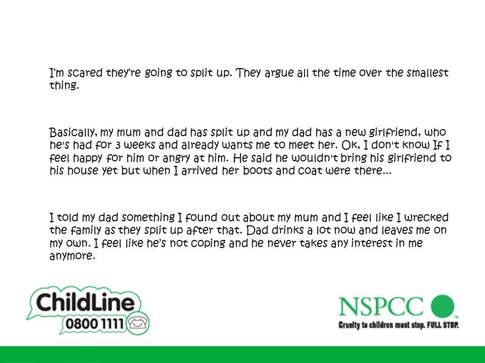 My family and other problems: teenagers talking to ChildLine - ppt