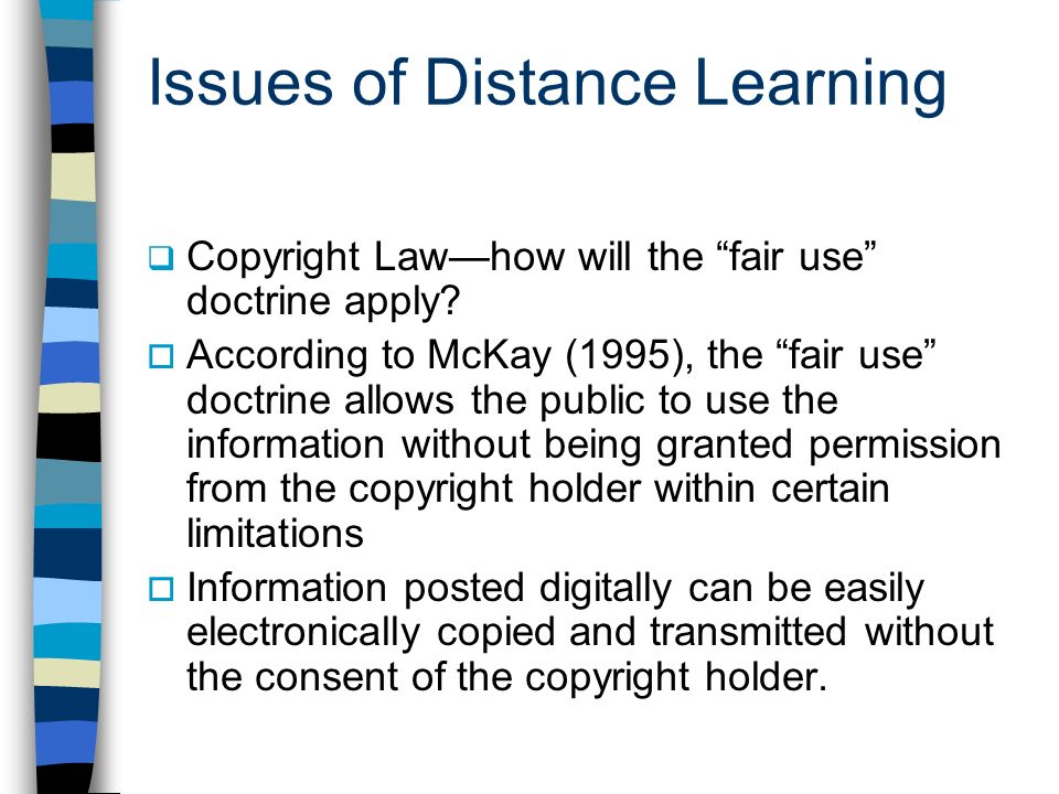 Issues of Distance Learning