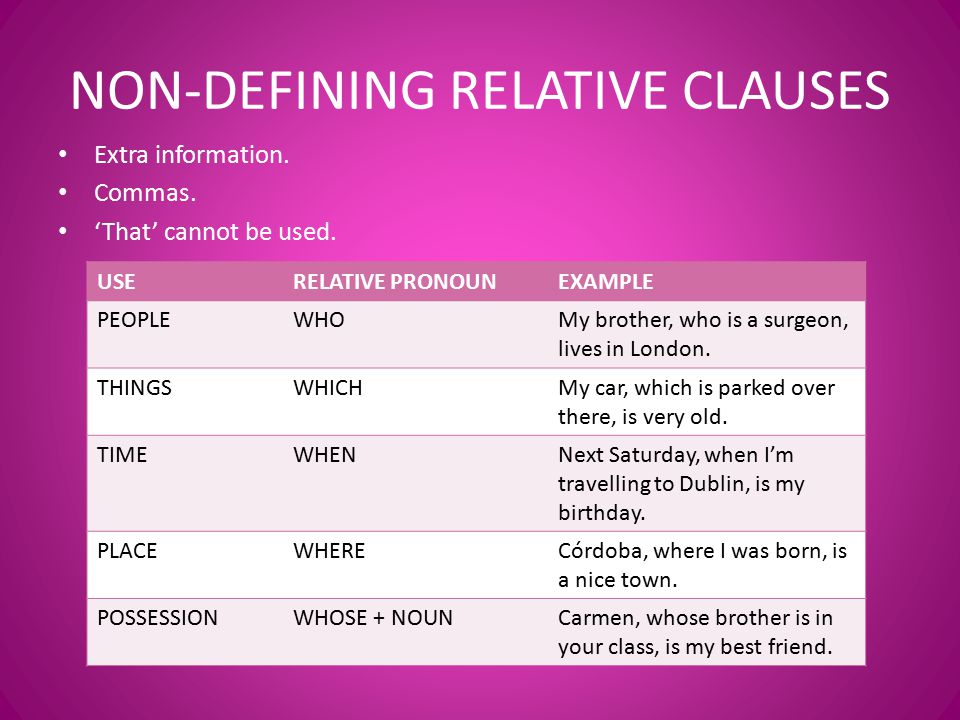 Use relative in a sentence