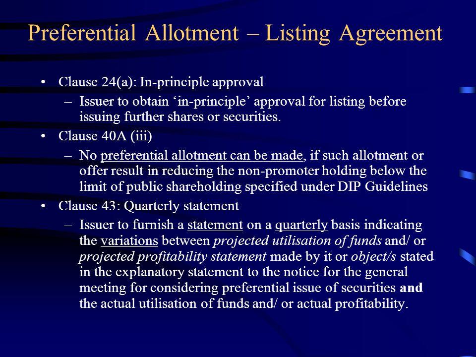 Preferential Allotment Ppt Video Online Download
