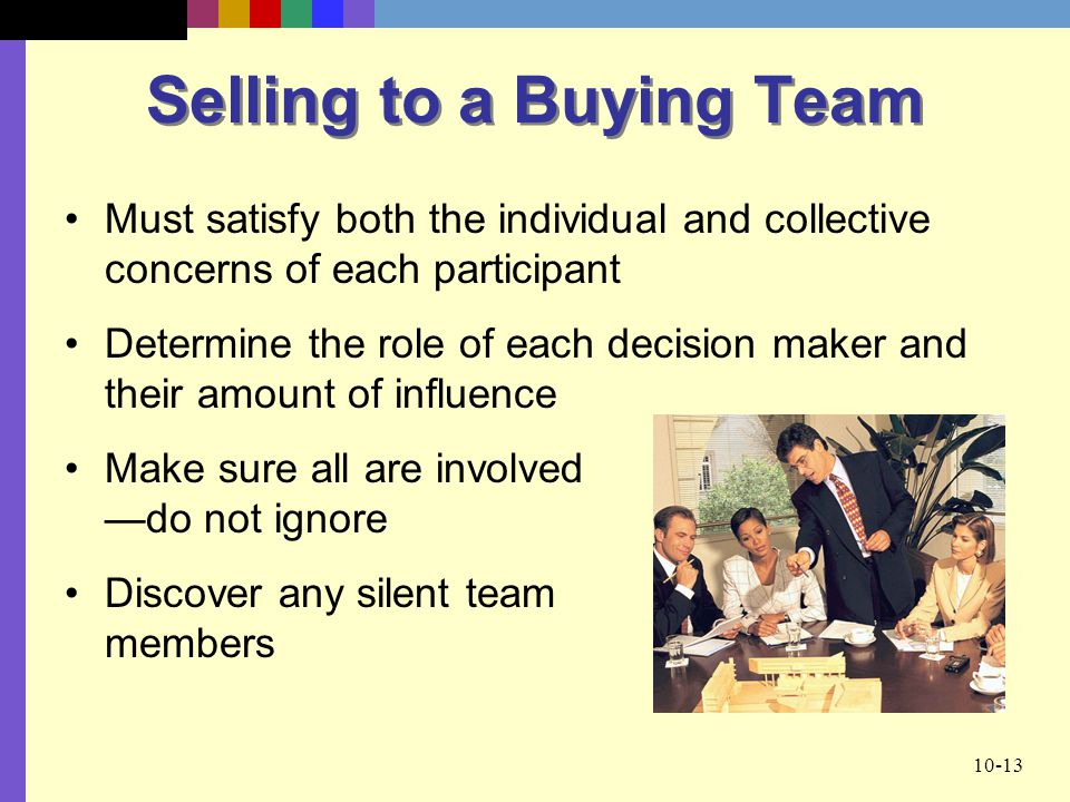 Selling to a Buying Team