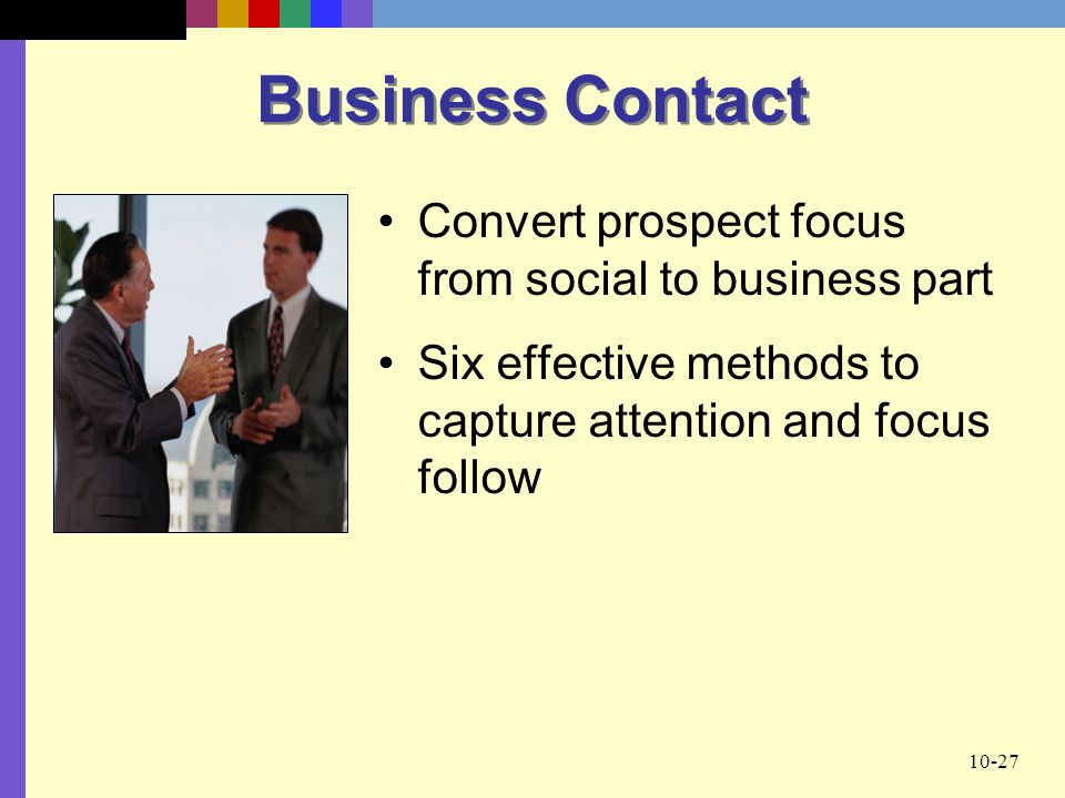 Business Contact Convert prospect focus from social to business part
