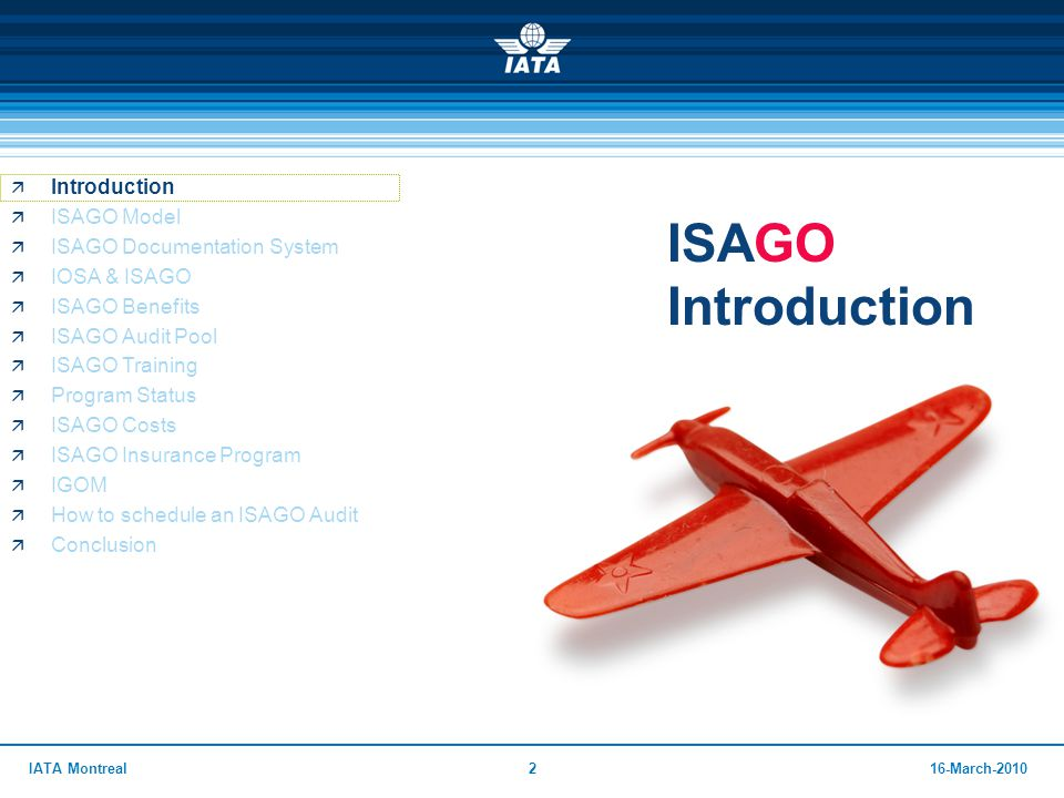 ISAGO IATA Safety Audit for Ground Operations - ppt download