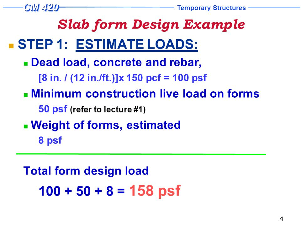 Parts of typical slab formwork - ppt video online download