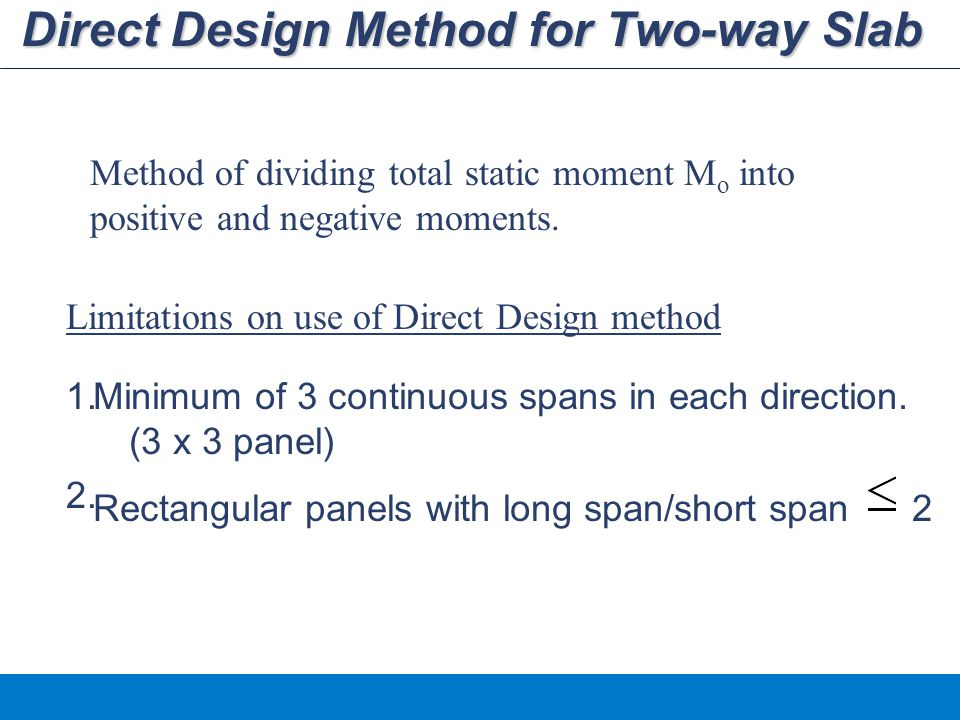Direct Design Method for Two-way Slab