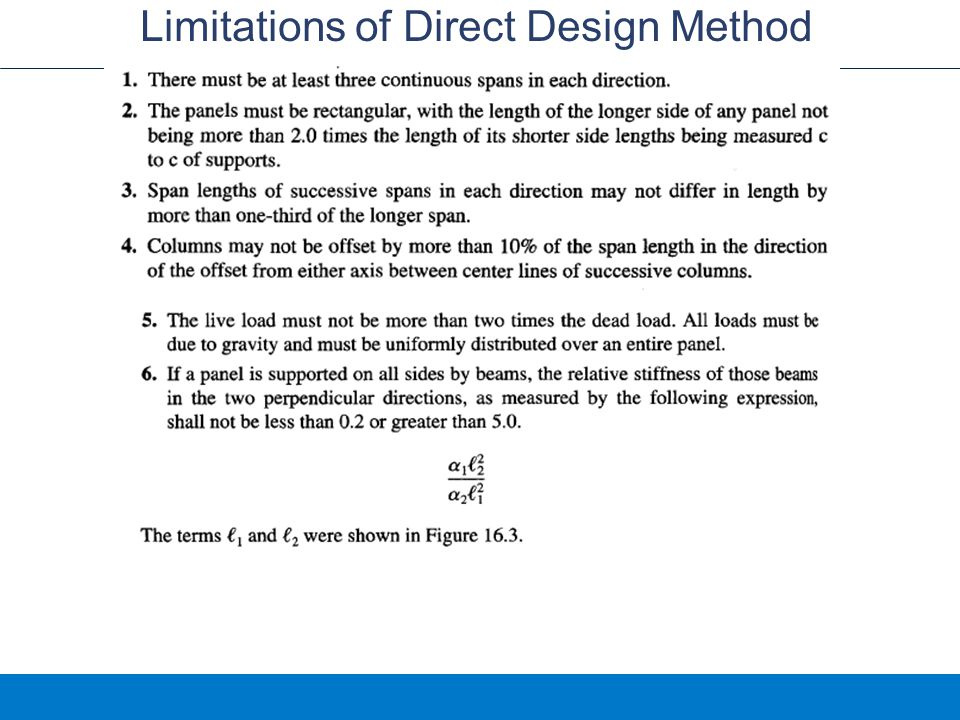 Limitations of Direct Design Method