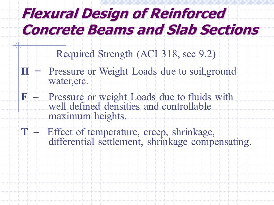 Flexural Design of Reinforced Concrete Beams and Slab Sections