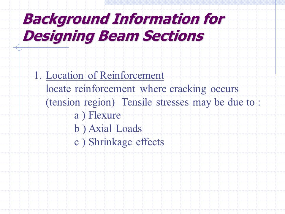 Background Information for Designing Beam Sections