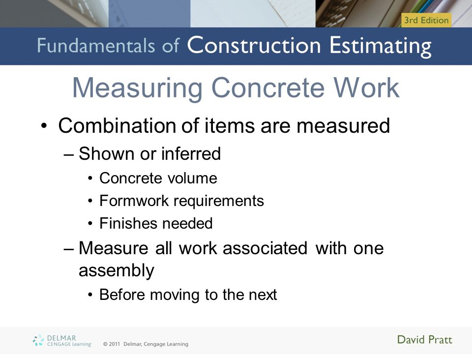 Measuring Concrete Work - ppt video online download