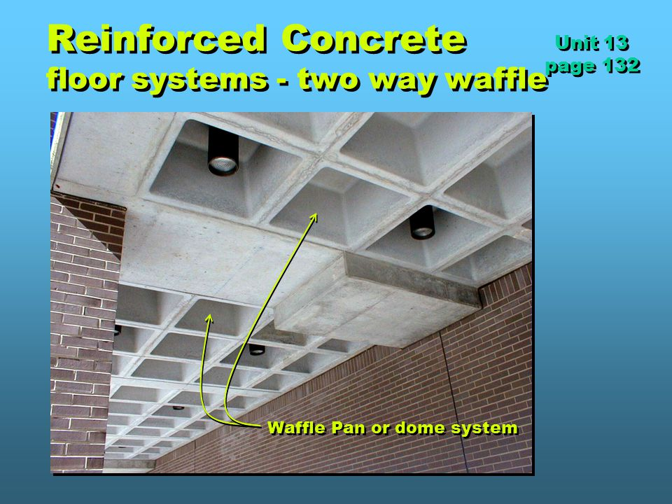 Reinforced Concrete floor systems - two way waffle