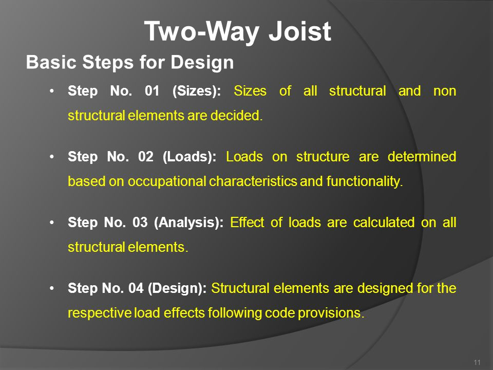 Two-Way Joist Basic Steps for Design