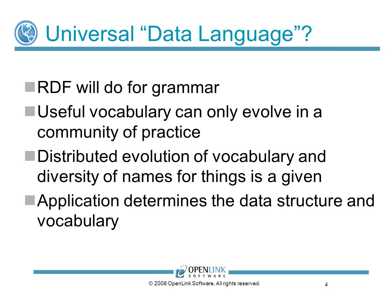 Universal Data Language
