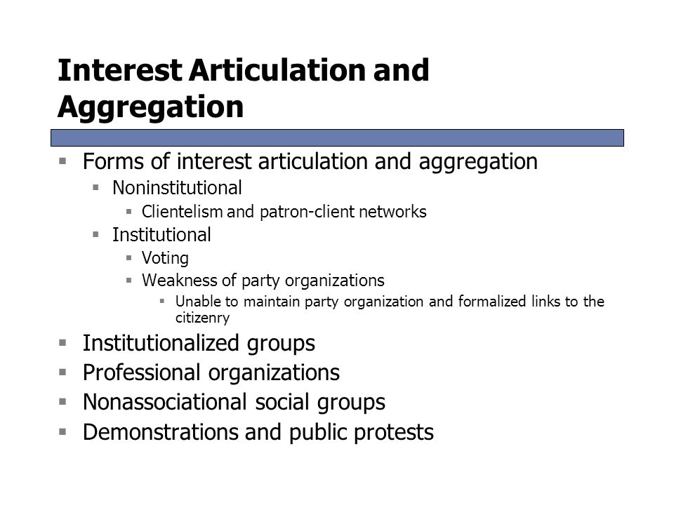 what is interest articulation