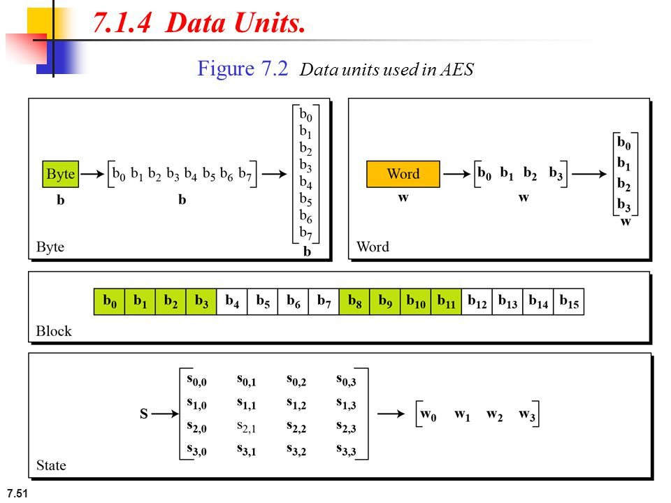 7.1.4 Data Units. Figure 7.2 Data units used in AES