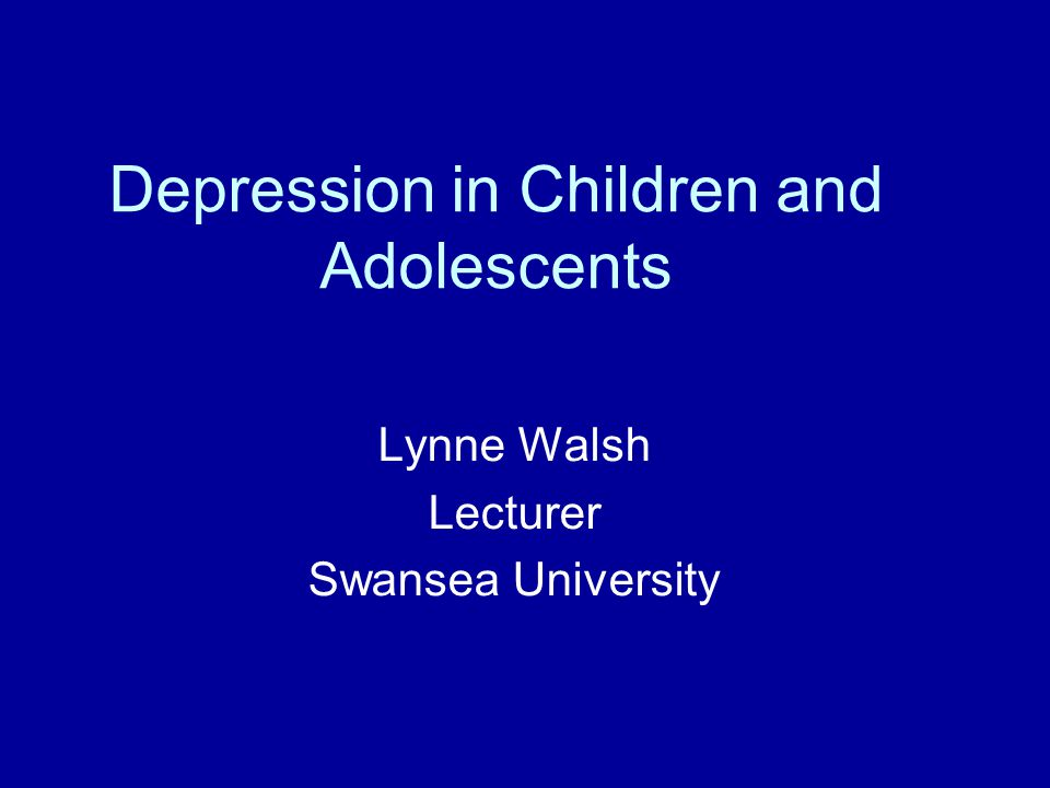 Depression in Children and Adolescents