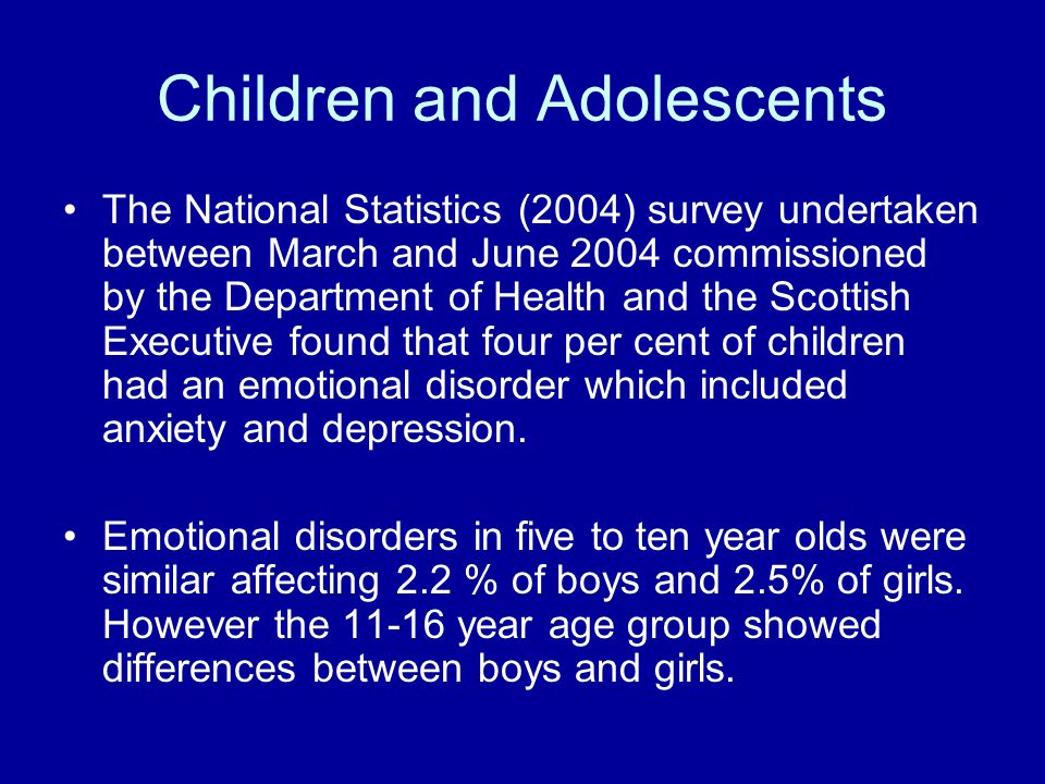 Children and Adolescents