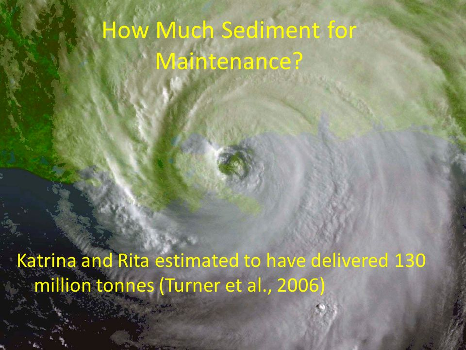 How Much Sediment for Maintenance
