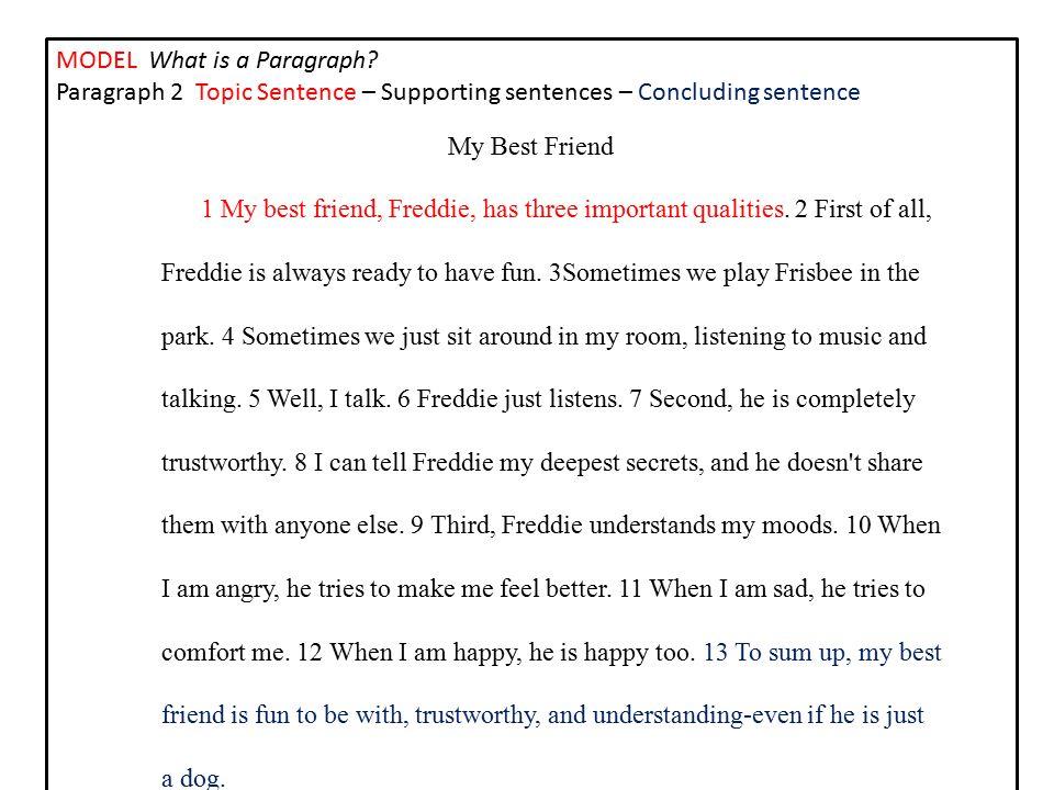 best friend topic sentence