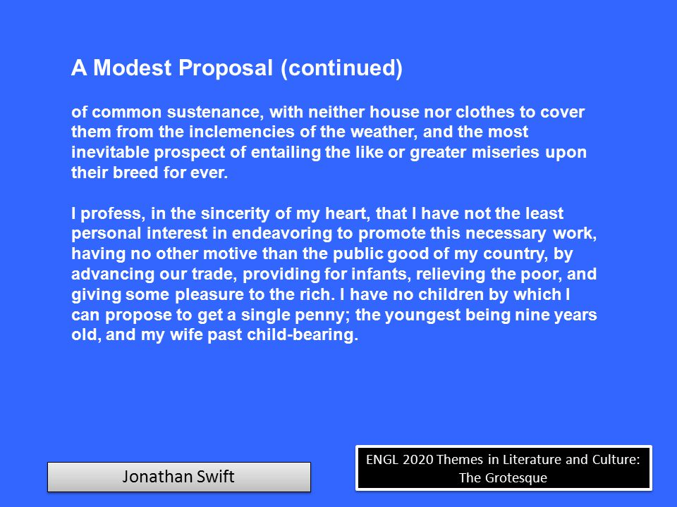 themes in a modest proposal