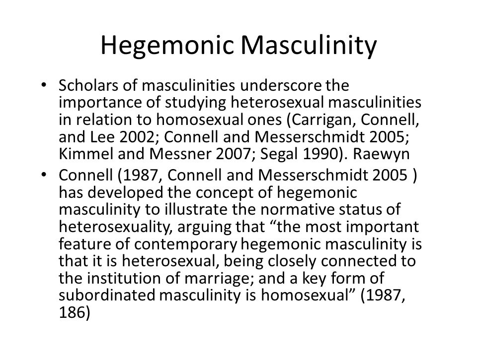 Heterosexual masculinities
