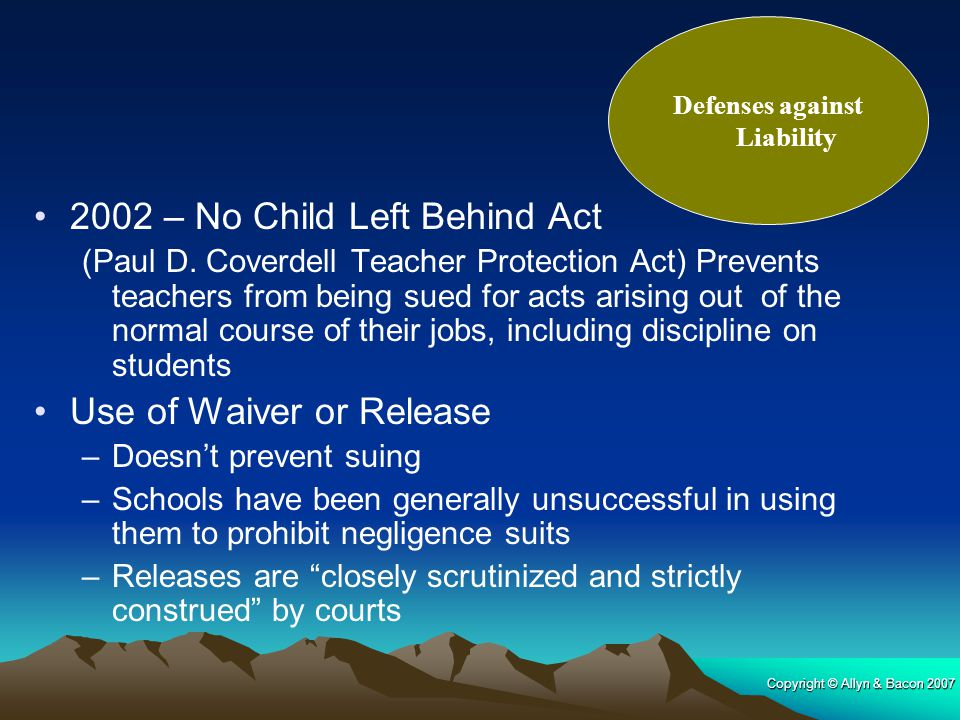 Defenses against Liability