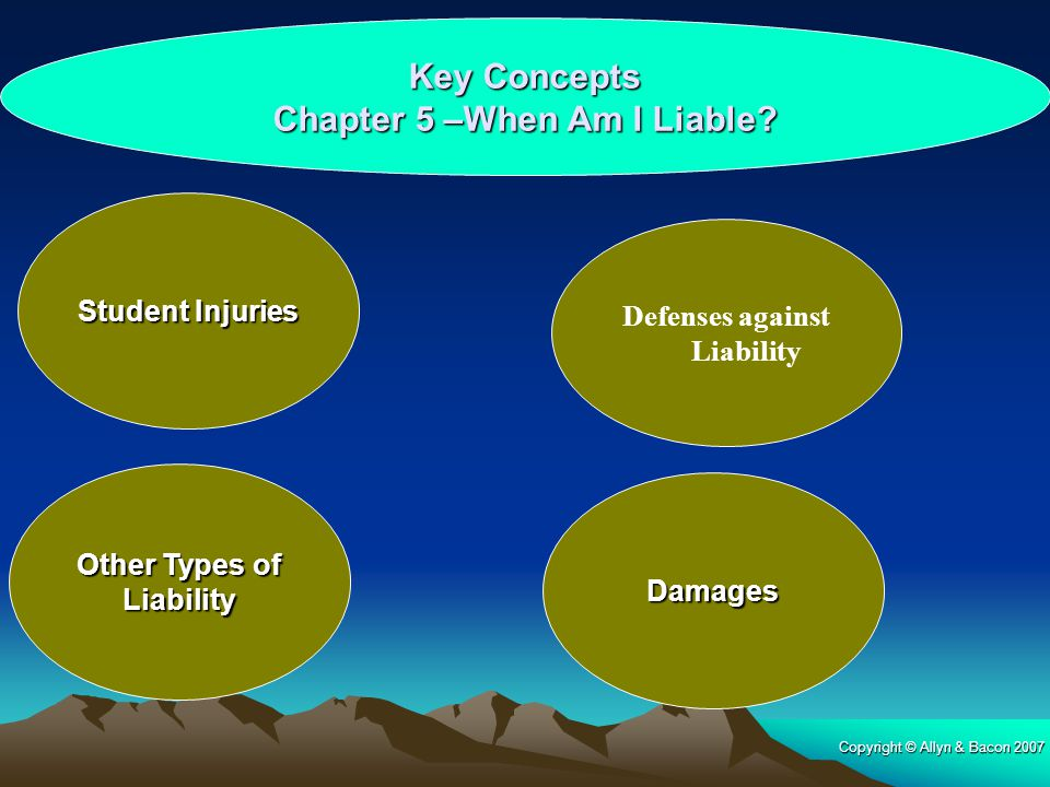 Key Concepts Chapter 5 –When Am I Liable