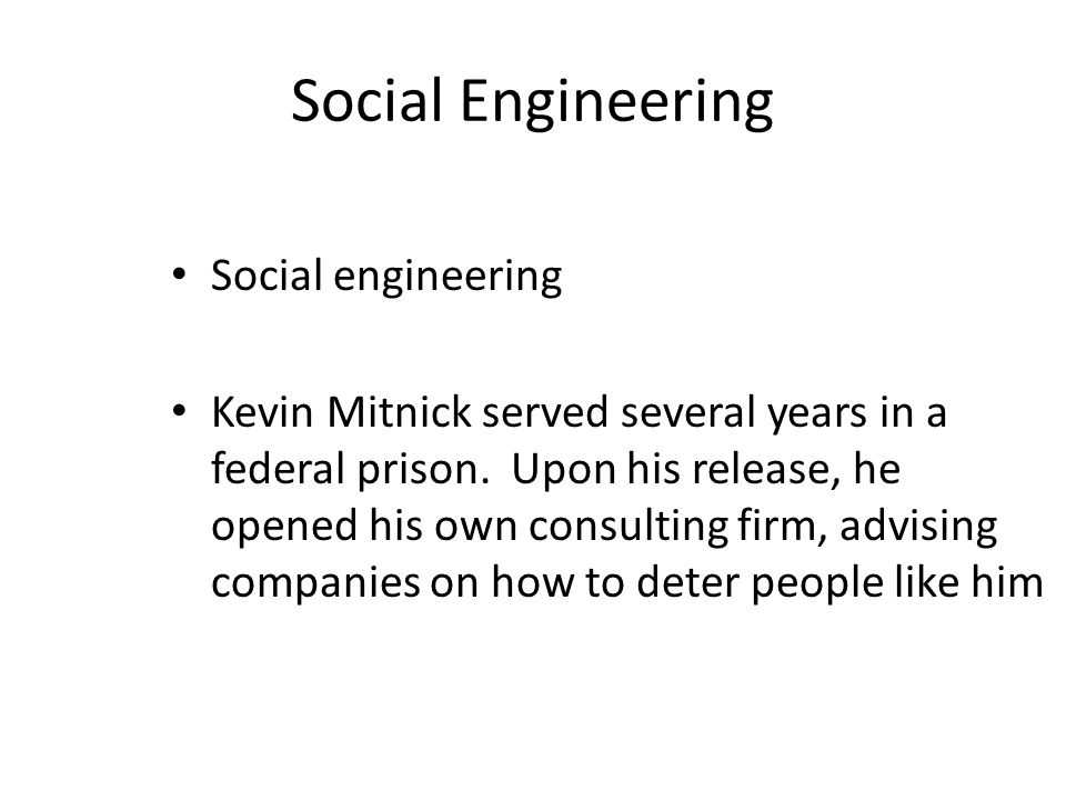 Social Engineering Social engineering