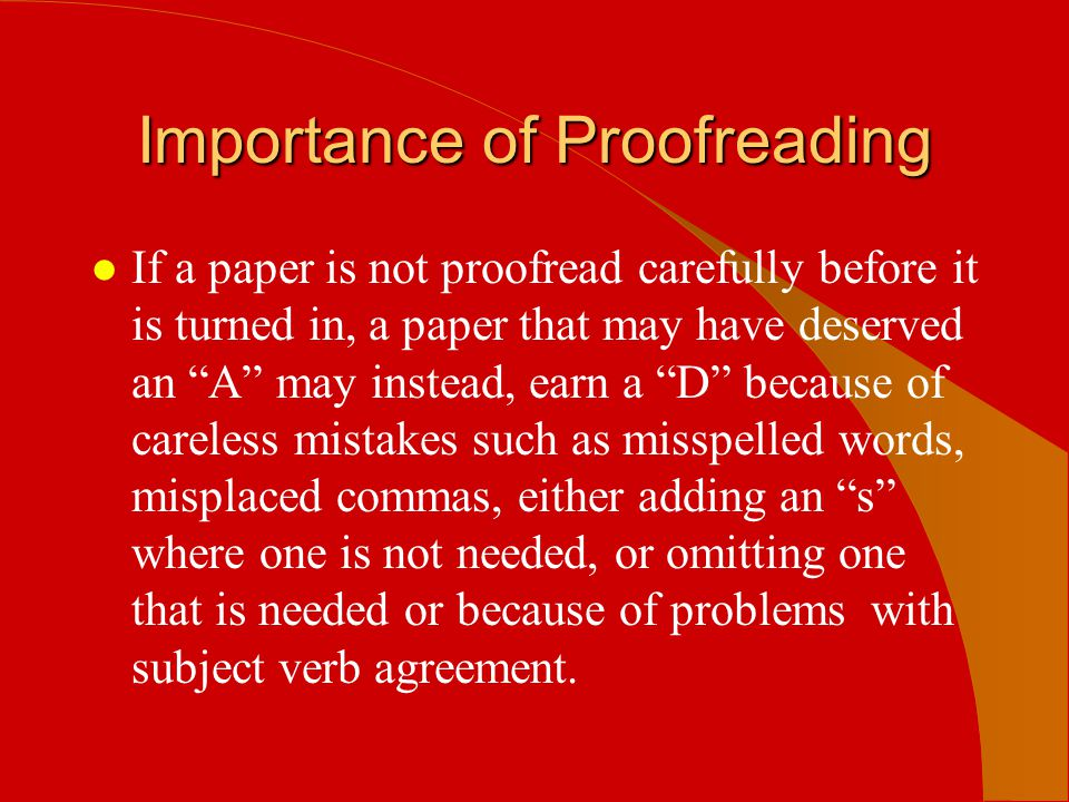 why is it important to proofread
