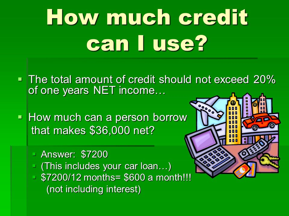 How much credit can I use