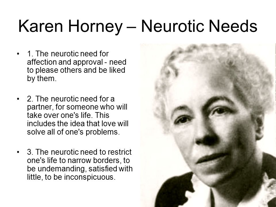 karen horney neurotic needs