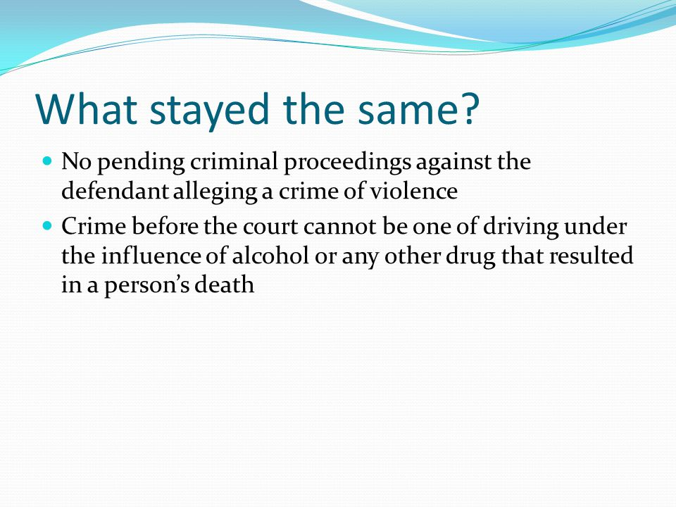 CHANGES IN DWI & DRUG COURT LEGISLATION - ppt video online