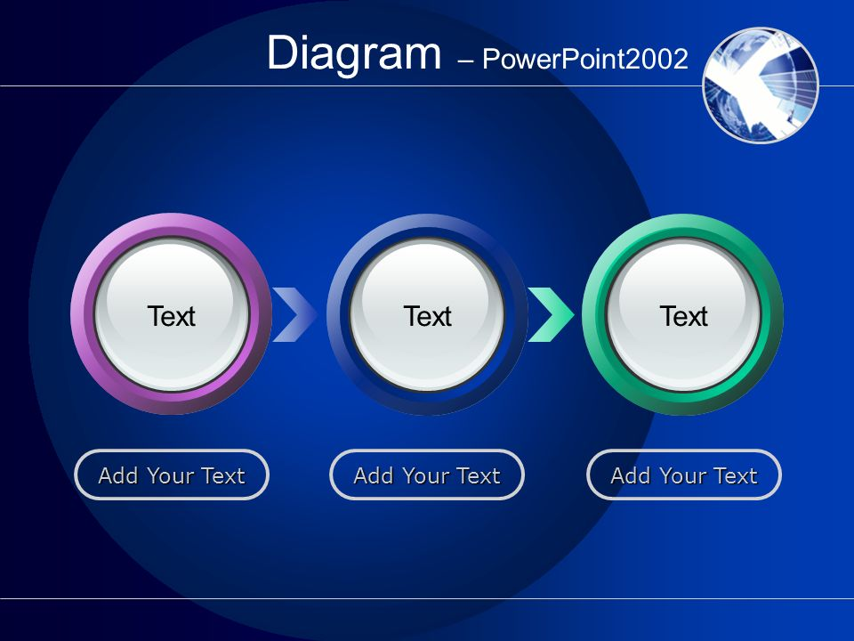 Diagram – PowerPoint2002 Text Text Text Add Your Text Add Your Text