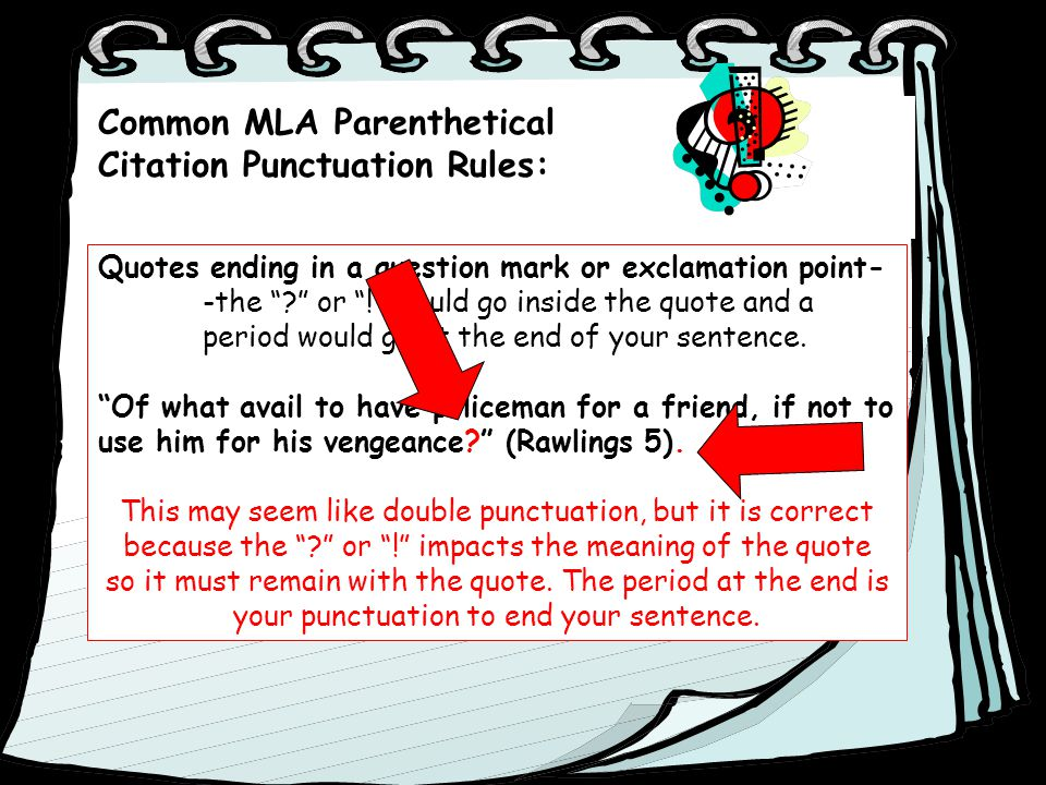 Does Question Mark Go Inside Quotes: Parenthetical MLA Citation Of Textual Evidence.