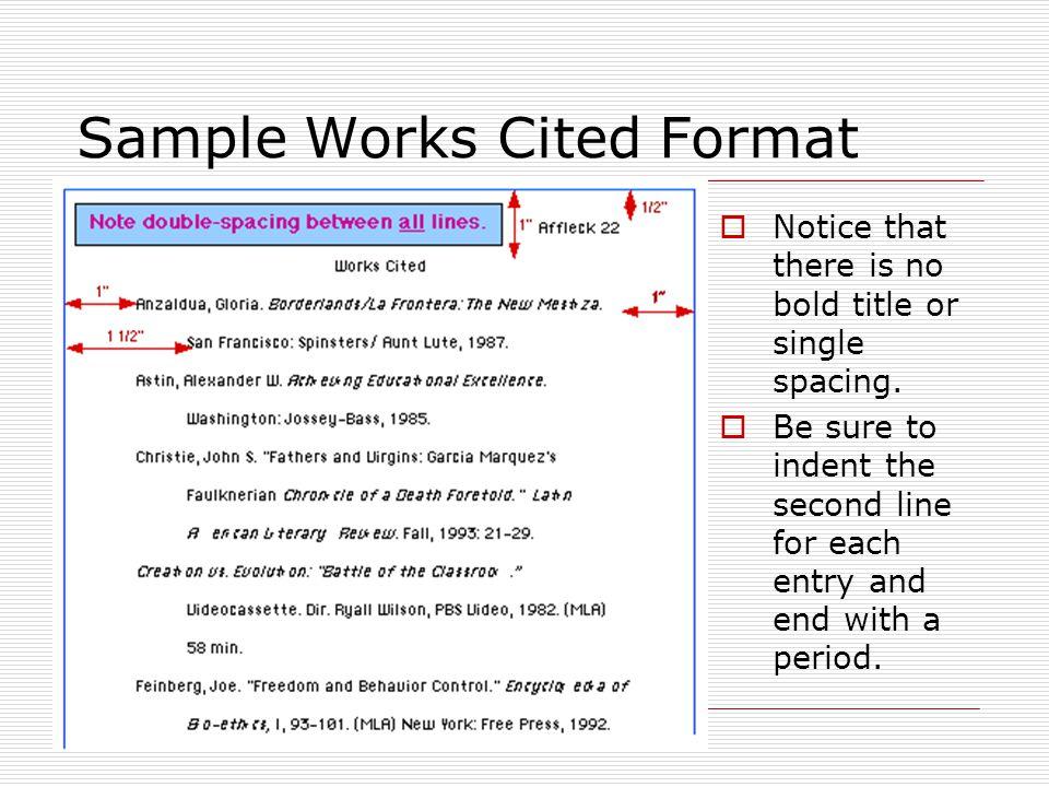 mla format of works cited