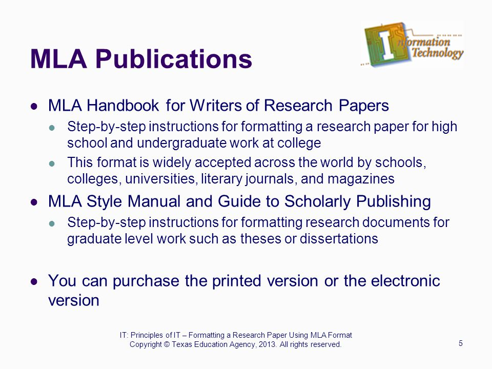 mla format for science papers For longer papers, containing a wealth of information, writing an appendix is a useful way of including information that would otherwise clutter up the paper and mire the reader in over-elaborate details.