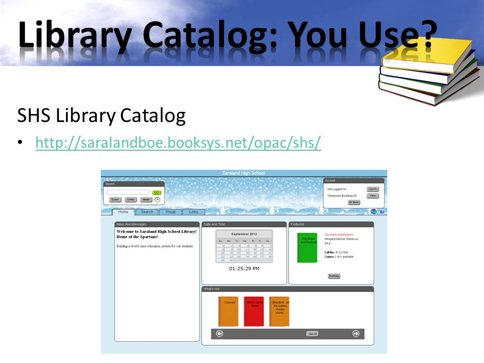Library Catalog: You Use