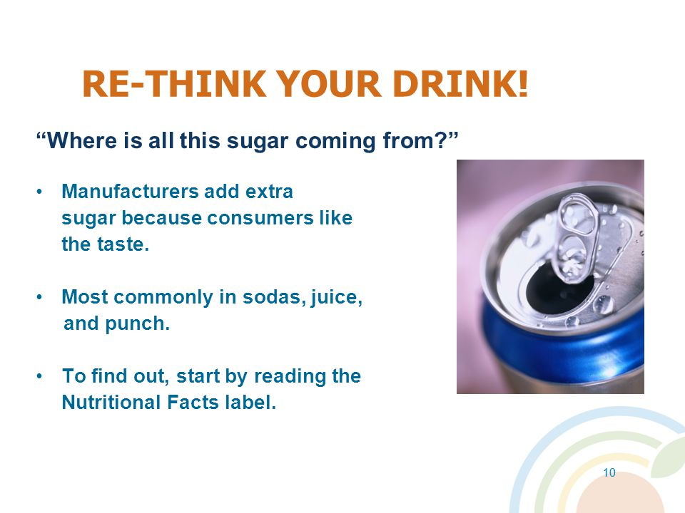 RE-THINK YOUR DRINK! Where is all this sugar coming from