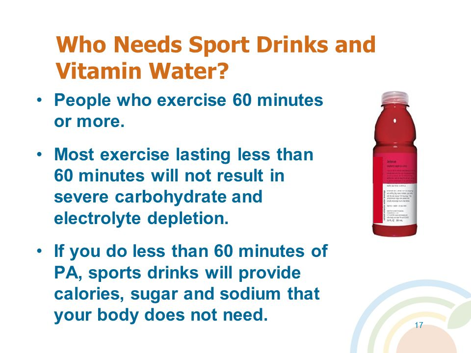 Who Needs Sport Drinks and Vitamin Water