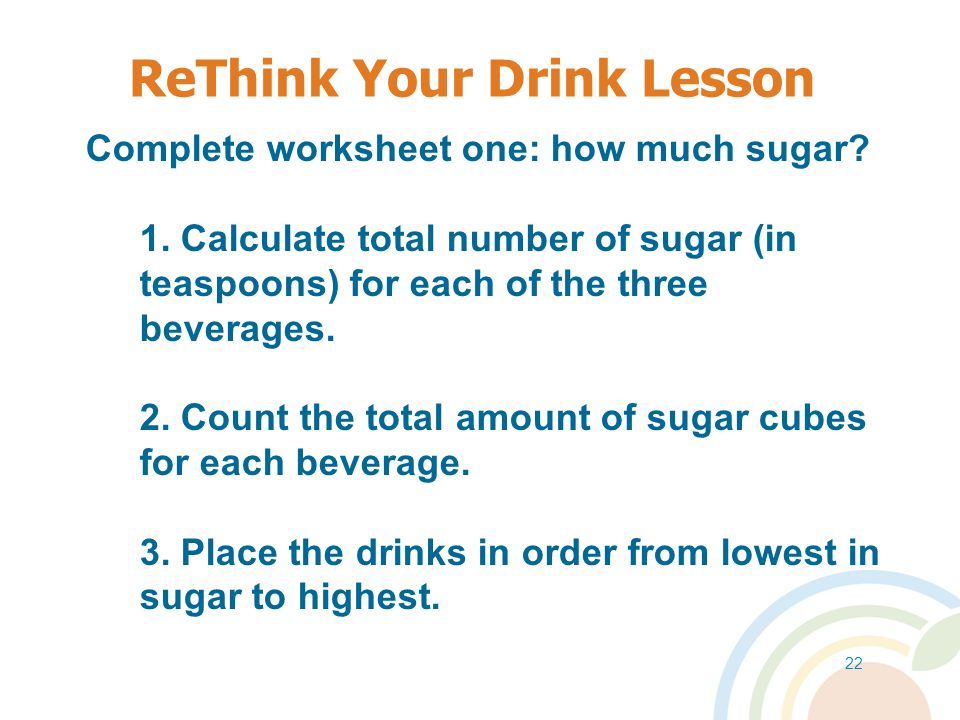 ReThink Your Drink Lesson
