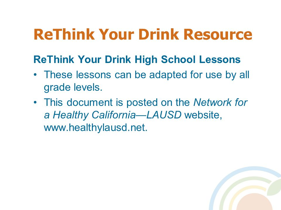 ReThink Your Drink Resource