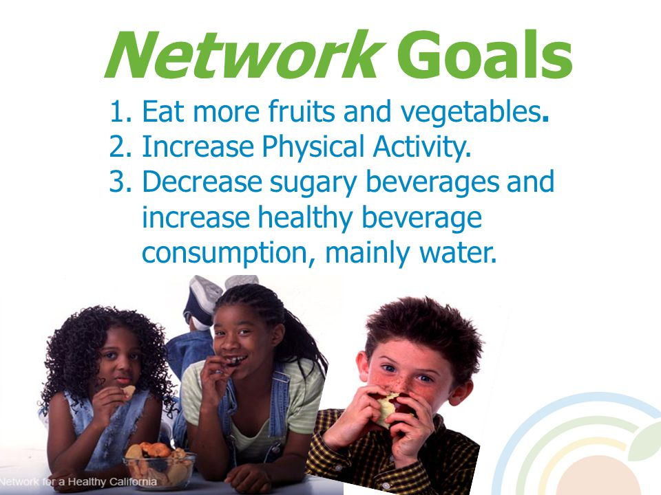 Network Goals Eat more fruits and vegetables.