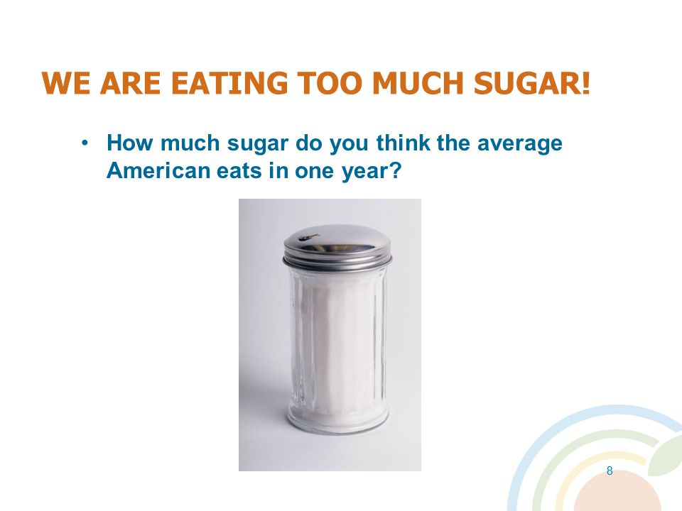 WE ARE EATING TOO MUCH SUGAR!