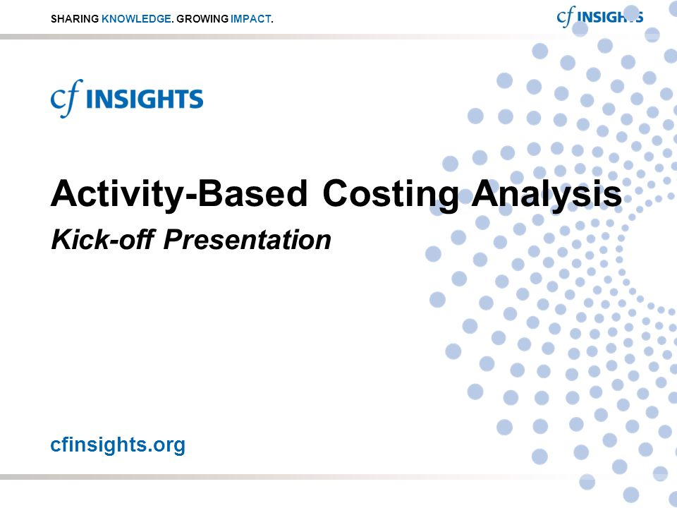 activity based costing article analysis summary The current paper analyses the specifics of the application of activity-based costing method in hospital management primary objective of the paper is to outline the methodology of the abc application in hospitals.