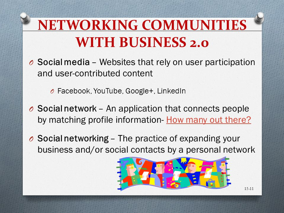 NETWORKING COMMUNITIES WITH BUSINESS 2.0