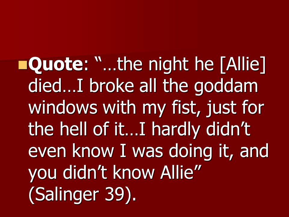 allie catcher in the rye