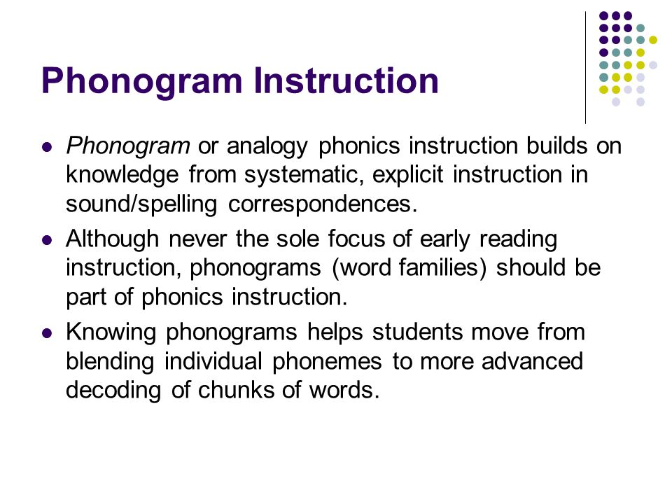 Phonogram Instruction