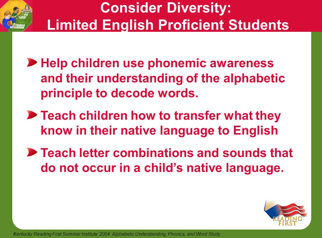 Consider Diversity: Limited English Proficient Students