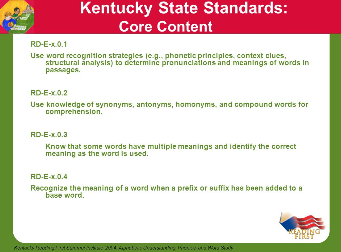 Kentucky State Standards: Core Content