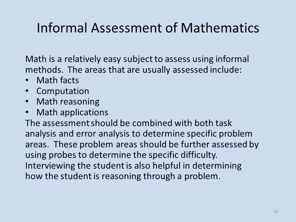 informal assessment. - ppt download
