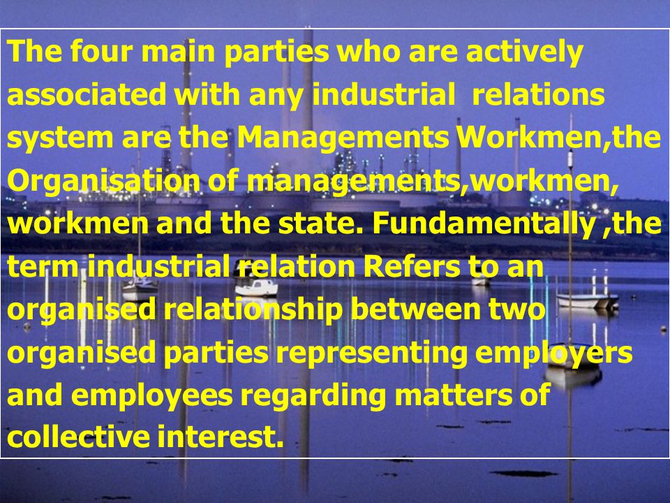 relationship between employer and employee in an organisation